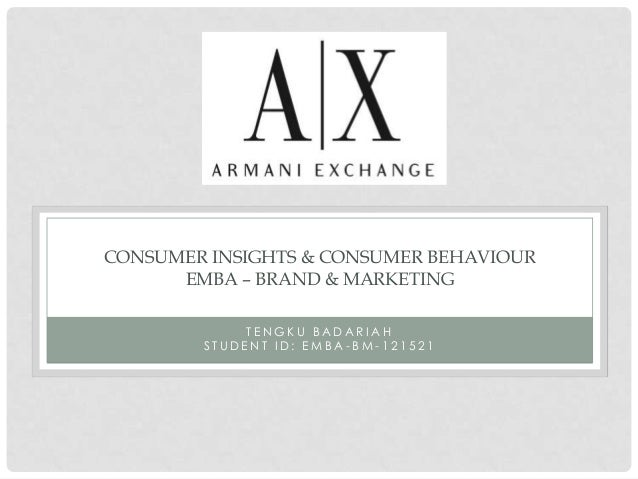 CONSUMER INSIGHTS & CONSUMER BEHAVIOUR      EMBA – BRAND & MARKETING             TENGKU BADARIAH        STUDENT ID: EMBA-B...