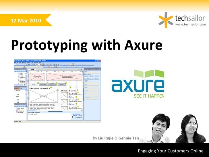 Engaging Your Customers Online  by Rujie & Gennie Using Axure