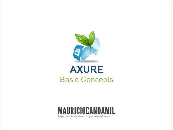 AXUREBasic Concepts