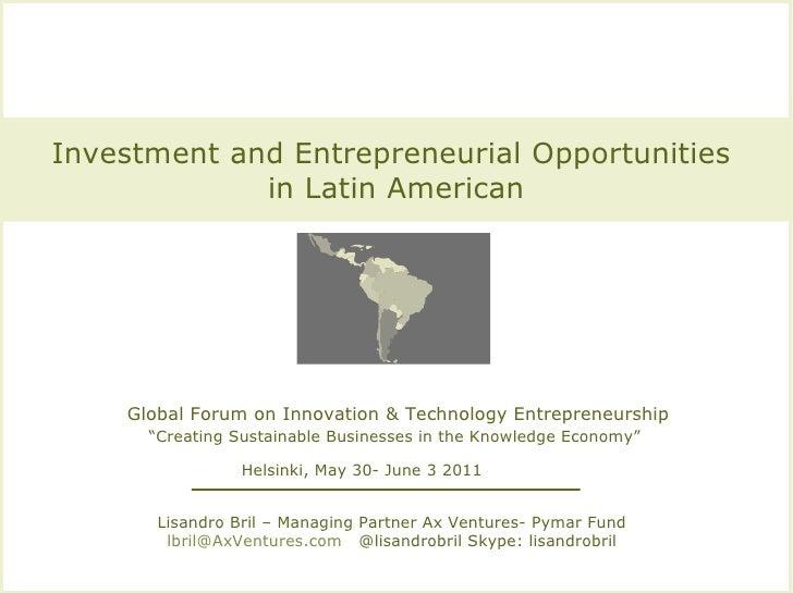 Ax Ventures Pymar Fund Presentation At  Infodev. World Bank. Ifc Global Forum Helsinki June 2011