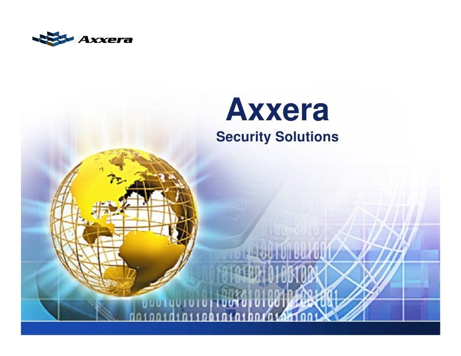 AxxeraSecurity Solutions