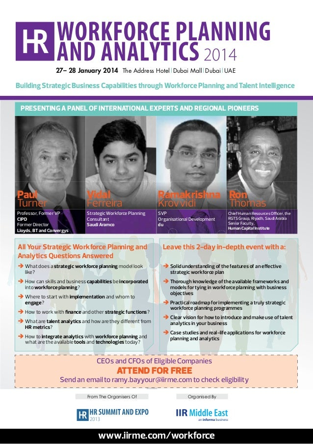 HR Workforce Planning and Analytics 2014