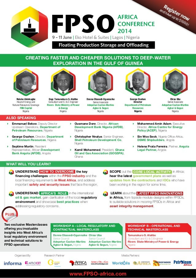 FPSO Africa 2014 Conference Brochure