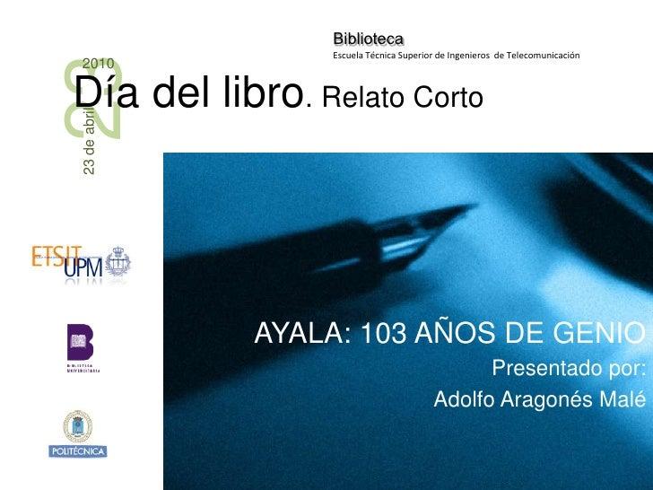 Día del libro 2010 - Francisco Ayala