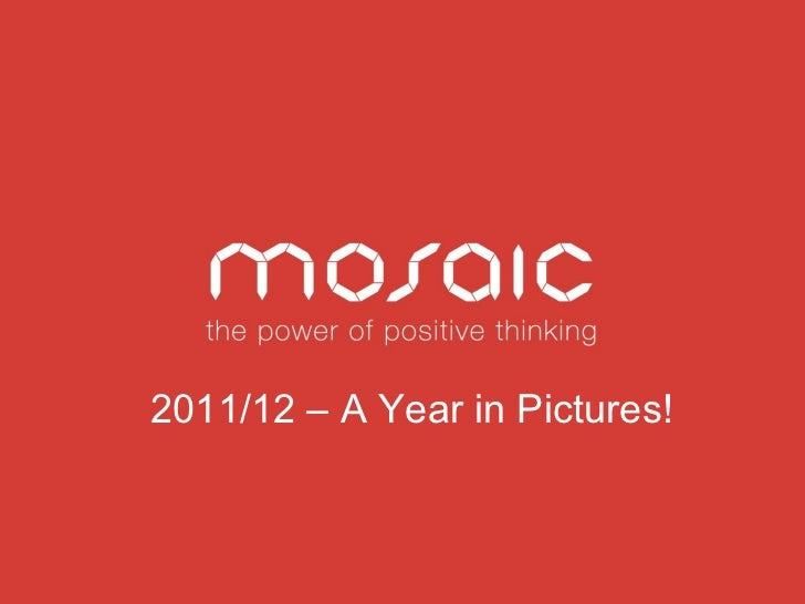 Mosaic: a year in pictures 2011 - 2012