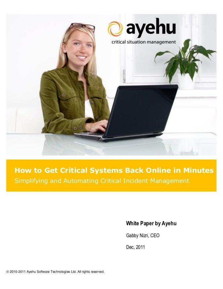 How to Get Critical Systems Back Online in Minutes     Simplifying and Automating Critical Incident Management            ...