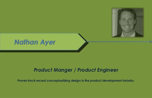 © Linckia LLC. January 2012Product Manger / Product EngineerProven track record conceptualizing design in the product deve...