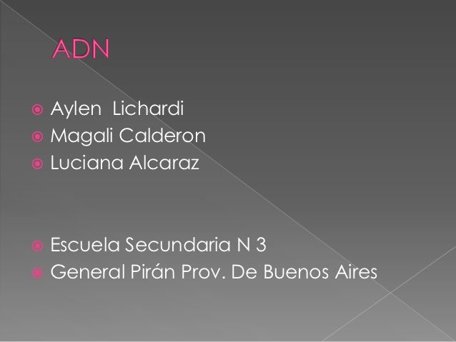  Aylen Lichardi Magali Calderon Luciana Alcaraz Escuela Secundaria N 3 General Pirán Prov. De Buenos Aires
