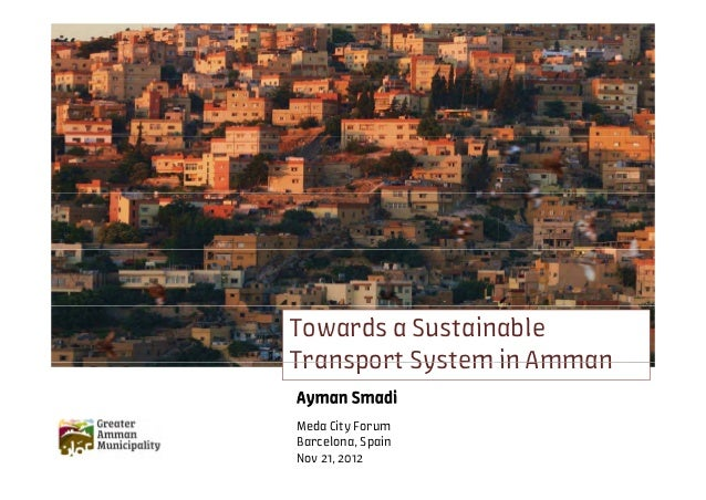 Towards z sustainable transport system in Amman