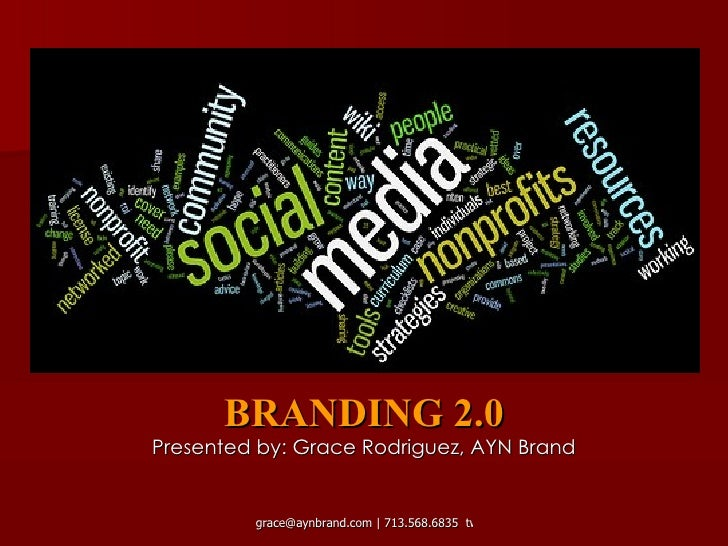 BRANDING 2.0 Presented by: Grace Rodriguez, AYN Brand