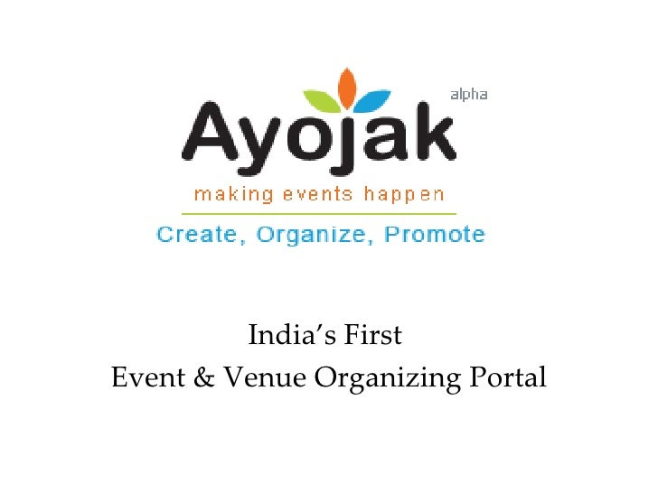 India's First  Event & Venue Organizing Portal
