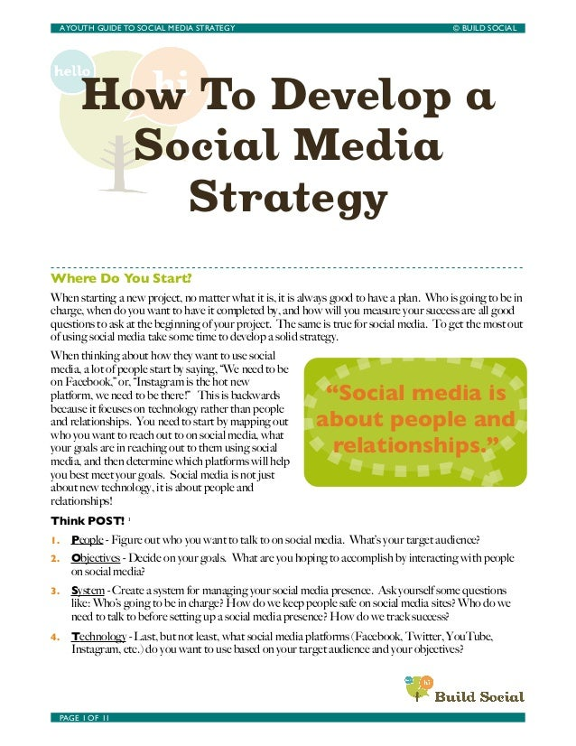 How To Develop aSocial MediaStrategyWhere Do You Start?When starting a new project, no matter what it is, it is always goo...