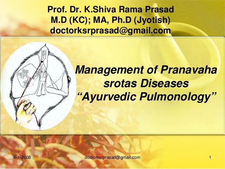 Prof. Dr. K.Shiva Rama Prasad            M.D (KC); MA, Ph.D (Jyotish)            doctorksrprasad@gmail.com                ...