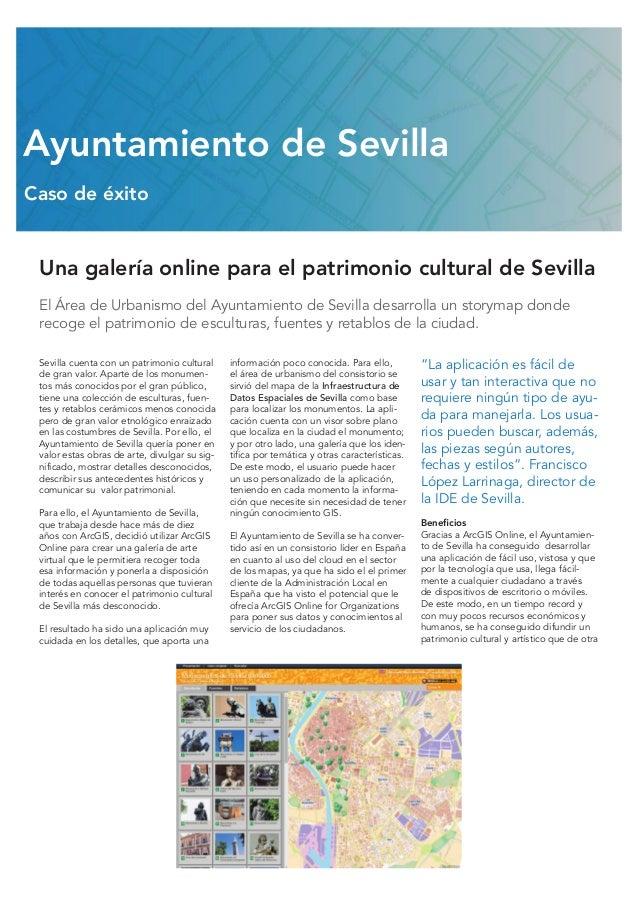 Una galería online para el patrimonio cultural de Sevilla El Área de Urbanismo del Ayuntamiento de Sevilla desarrolla un s...