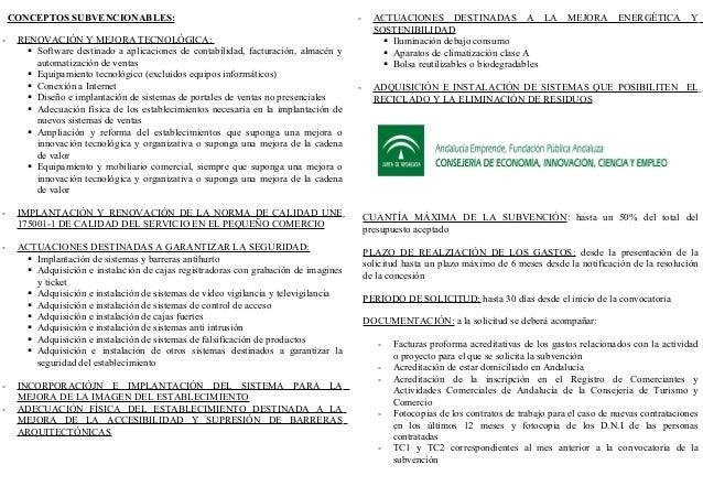 CUANTÍA MÁXIMA DE LA SUBVENCIÓN: hasta un 50% del total del presupuesto aceptado PLAZO DE REALZIACIÓN DE LOS GASTOS: desde...