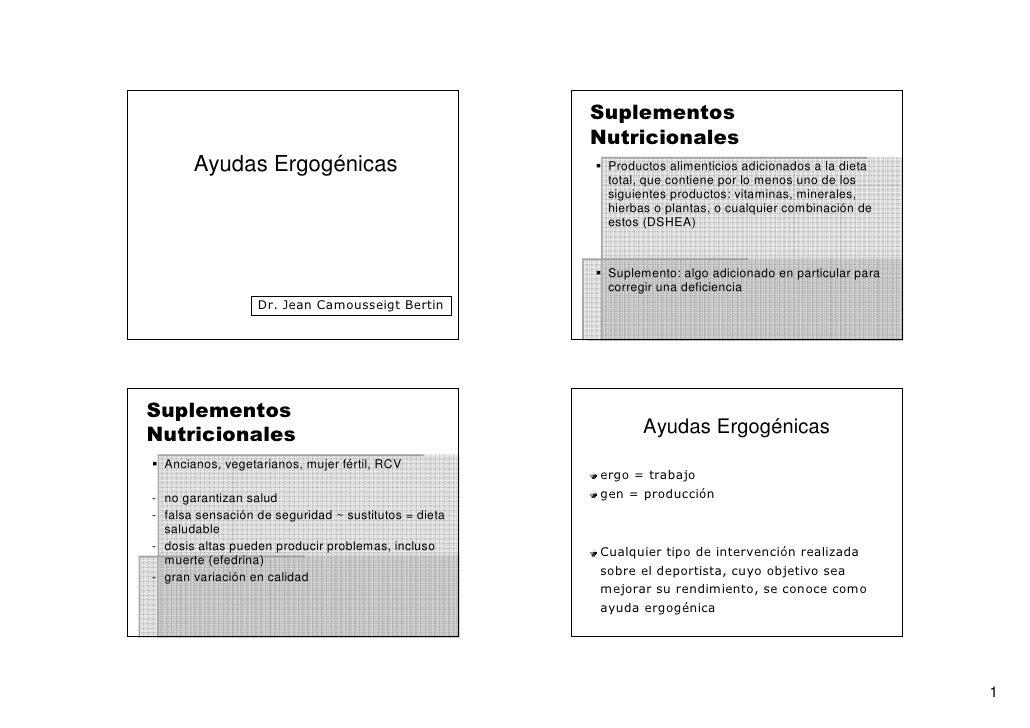 Suplementos                                                       Nutricionales        Ayudas Ergogénicas                 ...