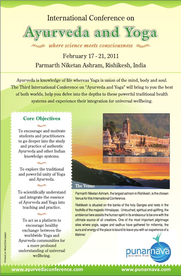 Ayurveda Conference India, Ayurveda and Yoga Conference, International Ayurveda Conference