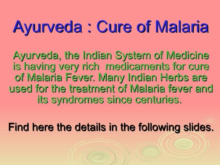 Ayurveda Cure of Malaria