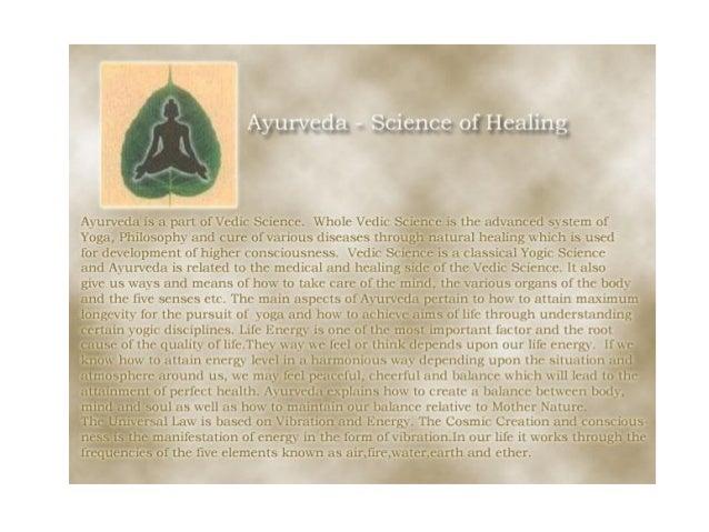Ayurveda science of healing