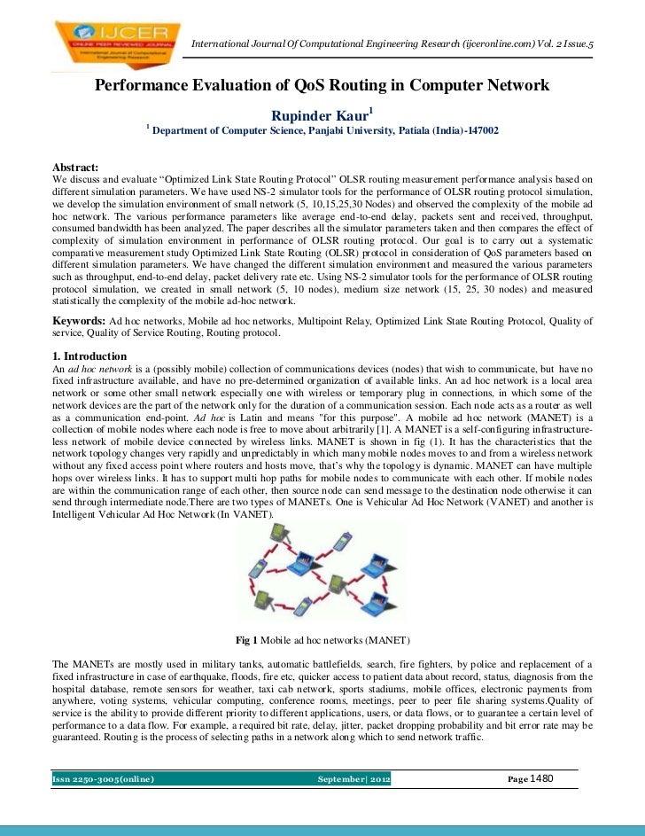 International Journal Of Computational Engineering Research (ijceronline.com) Vol. 2 Issue.5          Performance Evaluati...