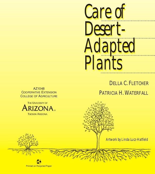 Care of Desert-Adapted Plants - Tucson, University of Arizona