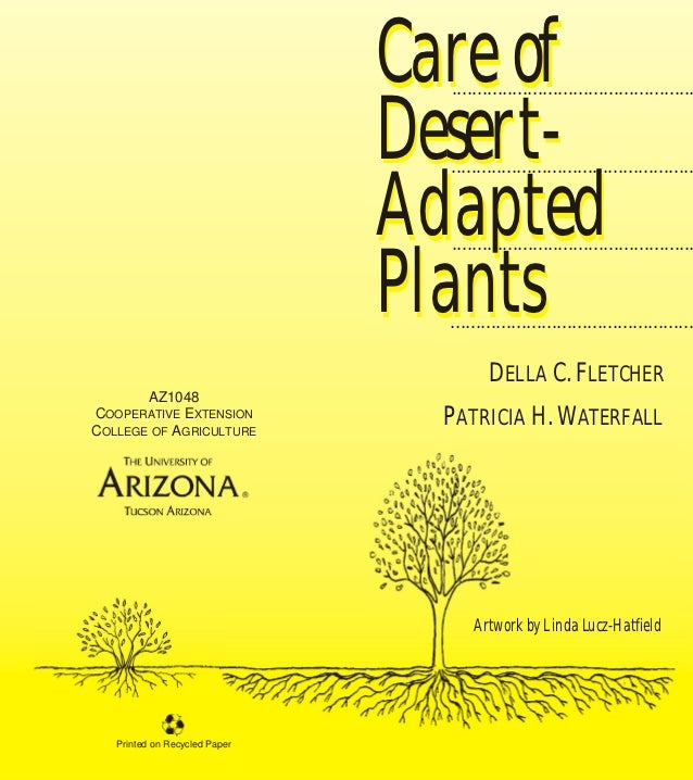 Care of Desert-Adapted Plants - Tucson, University of Arizona