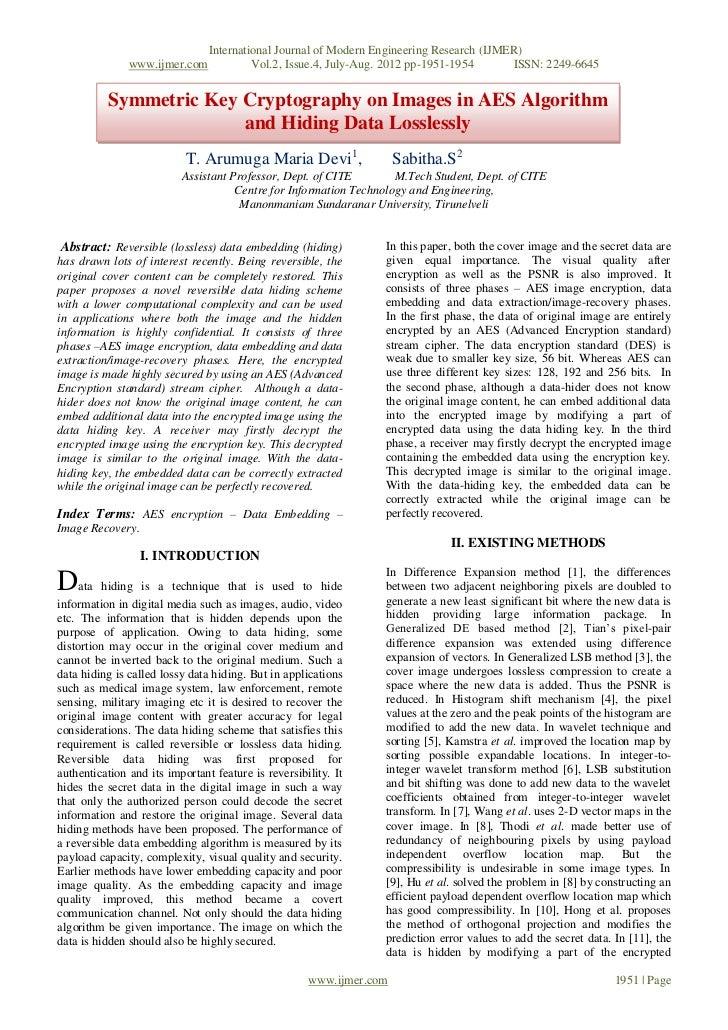 International Journal of Modern Engineering Research (IJMER)               www.ijmer.com             Vol.2, Issue.4, July-...