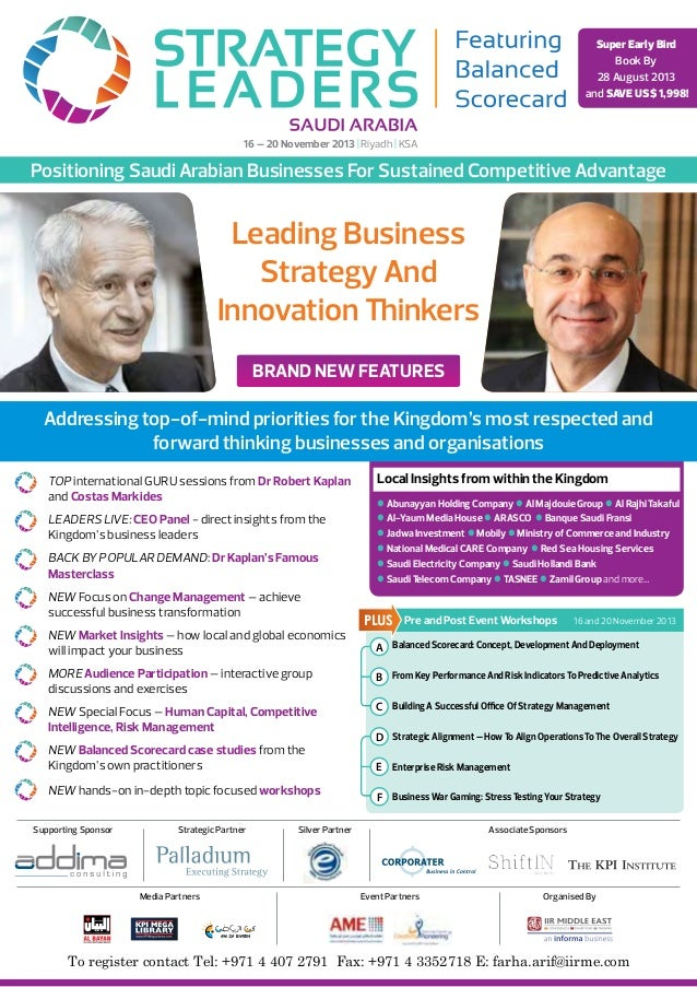 Leading Business Strategy And Innovation Thinkers Balanced Scorecard: Concept, Development And Deployment From Key Perform...