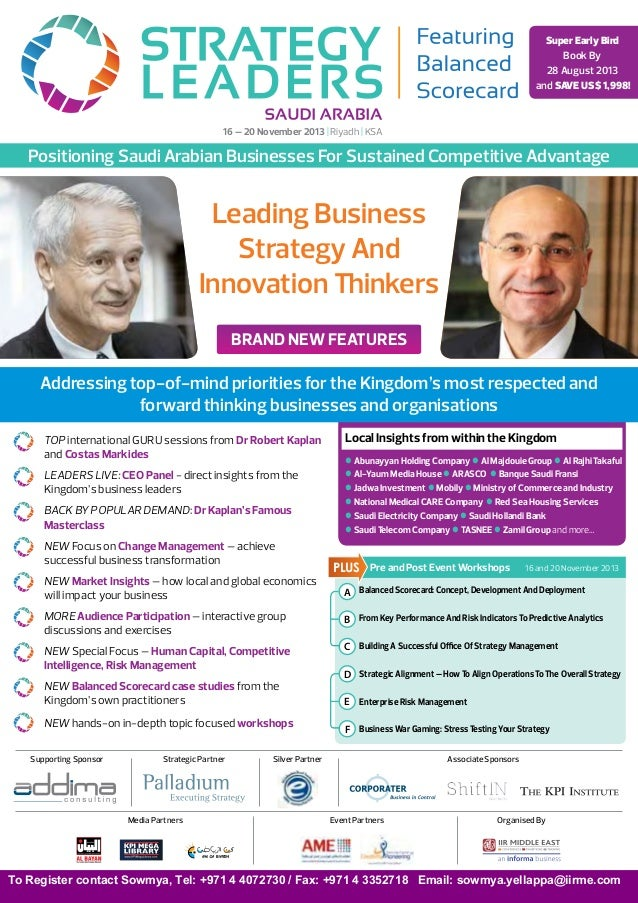 Strategy leaders featuring Balanced Scorecard KSA - November