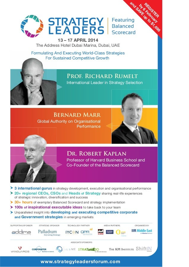 Prof. Richard Rumelt International Leader in Strategy Selection  Bernard Marr Global Authority on Organisational Performan...