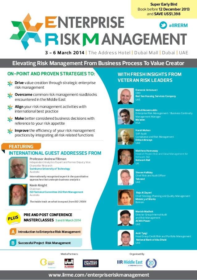 Enterprise Risk Management 2014