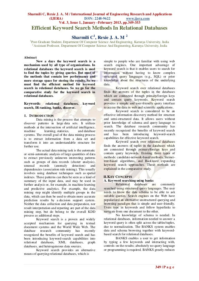 Sharmili C, Rexie J. A. M / International Journal of Engineering Research and Applications               (IJERA)          ...