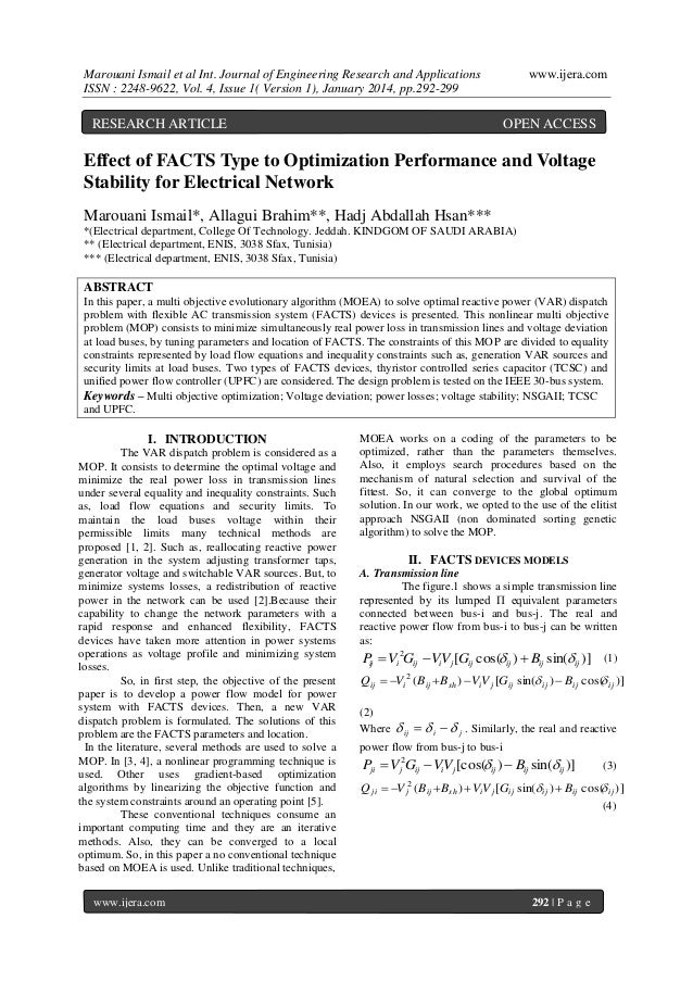 Marouani Ismail et al Int. Journal of Engineering Research and Applications ISSN : 2248-9622, Vol. 4, Issue 1( Version 1),...
