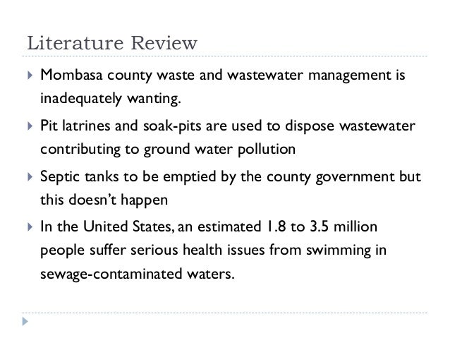 Literature review on pollution