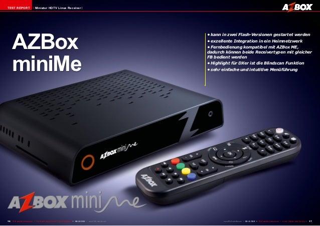 TEST REPORT                     Miniatur HDTV Linux Receiver     AZBox                                                    ...