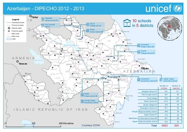 DIPECHO 2012 - 2013 country level school map - Azerbaijan