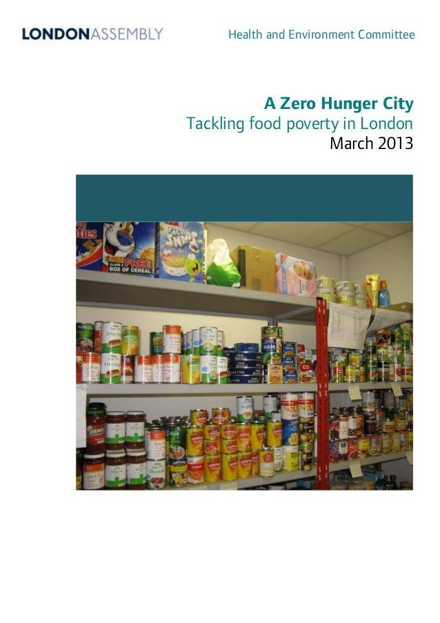 A Zero Hunger City