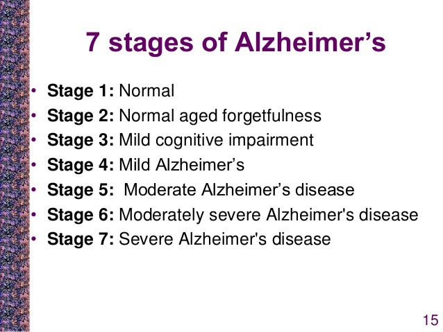 Alzheimers disease stages alzheimer disease