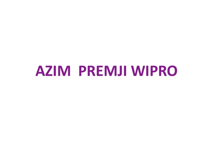 Azim premji wipro