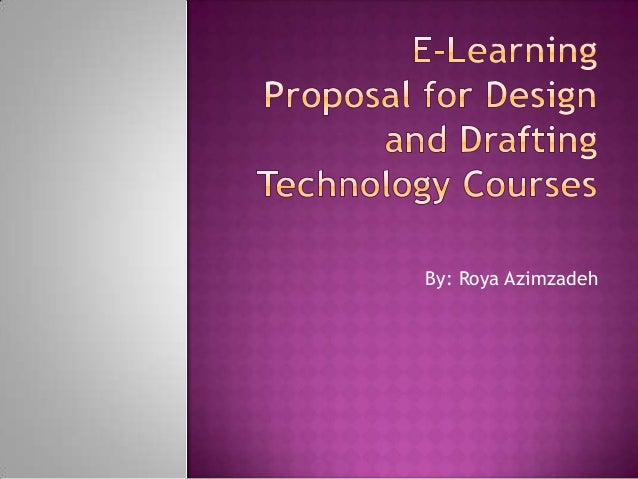e-learning thesis proposal