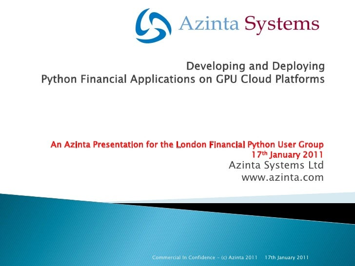 Azinta Gpu Cloud Services   London Financial Python Ug 1.2