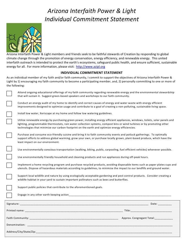 ArizonaInterfaithPower&Light                                 IndividualCommitmentStatement                        ...