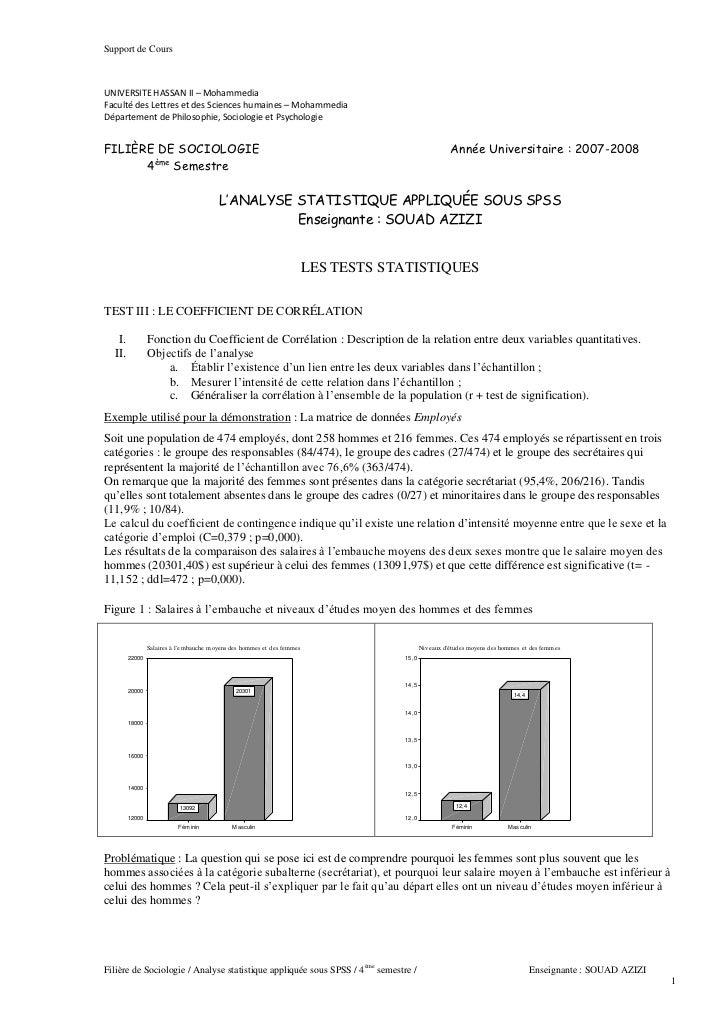 Support de Cours                             UNIVERSITE HASSAN II – Mohammedia                             Faculté des Let...