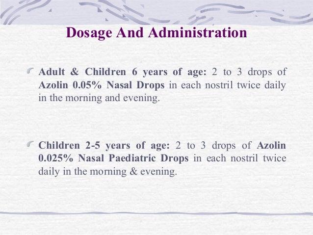 Azolin Nasal Drops Oxymetazoline Ppt