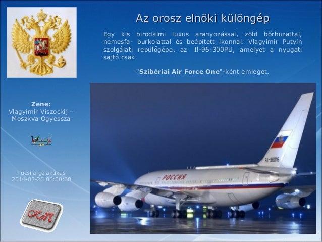 Az orosz elnöki különgép