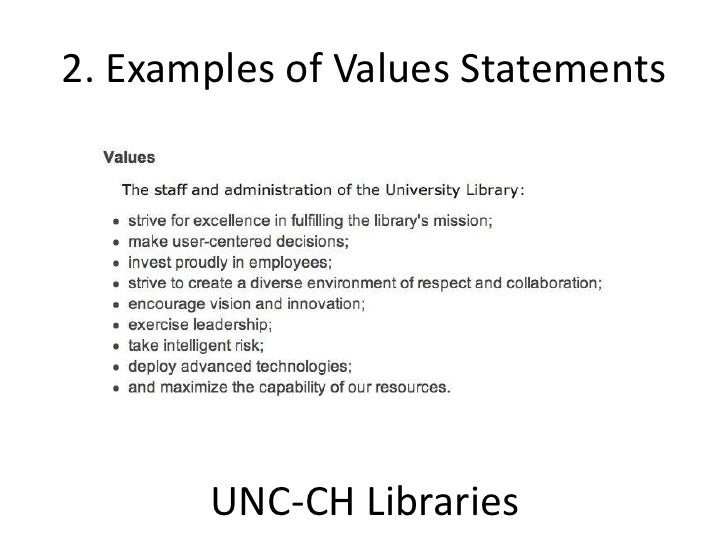 Examples of Values Statements with Commitments to Diversity/Inclusiveness