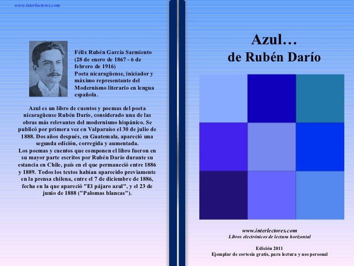 1 1 1 1 1 1 1 1 1 1 1 1 1 1 1 1 1 1 1 1 1 1 1 1 Azul es un libro de cuentos y poemas del poeta nicaragüense Rubén Darío, c...
