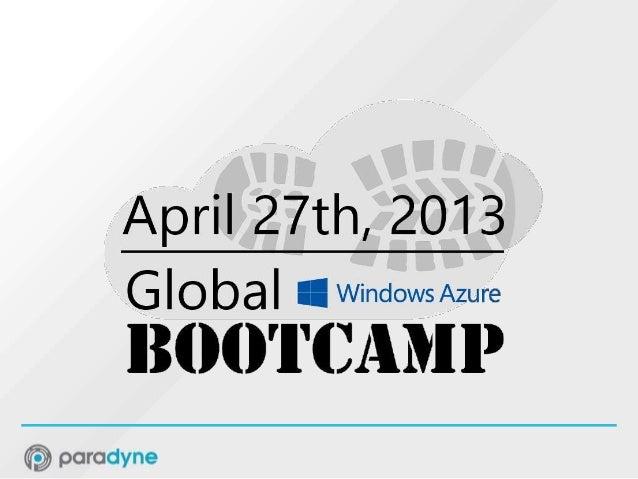 Azure for IaaS - Global Windows Azure Bootcamp (GWAB)