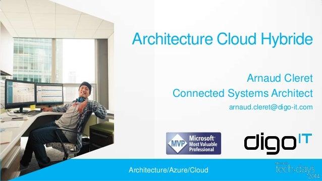 Architecture Cloud Hybride Arnaud Cleret Connected Systems Architect arnaud.cleret@digo-it.com  Architecture/Azure/Cloud
