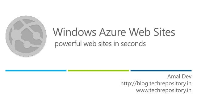 Azure bootcamp web sites